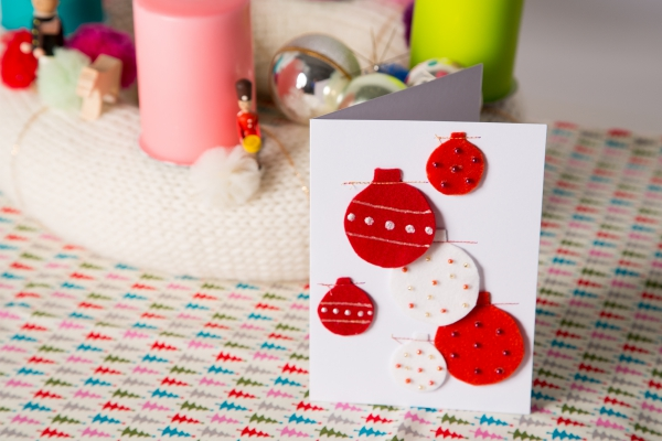 Kostenlose Anleitung Filzkugel Weihnachtskarten Nahen Kinitti De